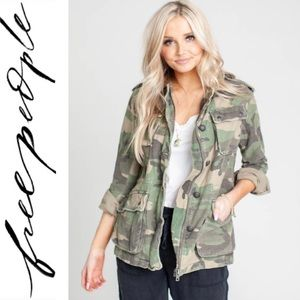 Free People Not Your Brothers Surplus Jacket Camo
